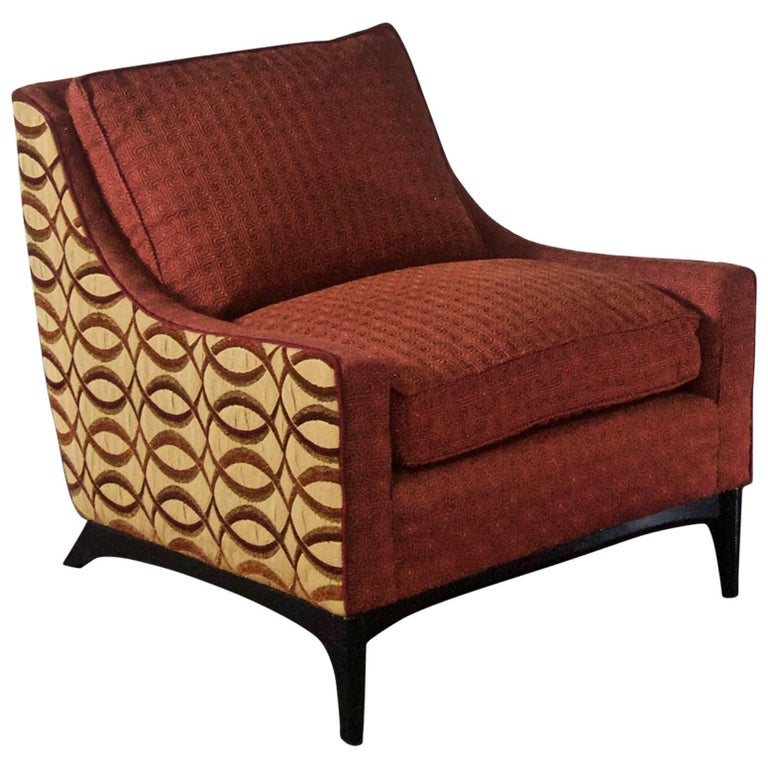 Midcentury Upholstered Lounge Chair