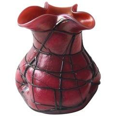 Jugendstil Pink Veined Vase by Pallme Koenig