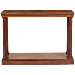English 19th Century Georgian Period Mahogany Console Table