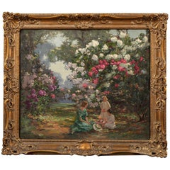 20th Century English Painting of 'Kew Gardens' by Augustus W. Enness