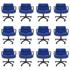 Midcentury Charles Pollock Executive Chairs for Knoll