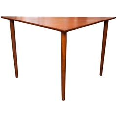 Danish Modern Teak Triangle Table