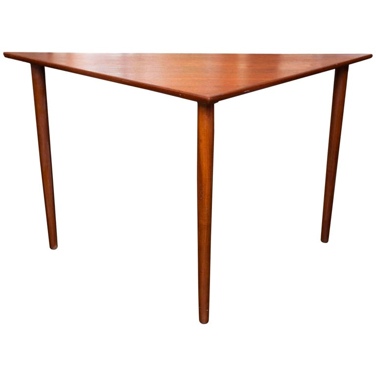 the chevron end home triangle dark patterned accent table p wood brown tables depot wooden