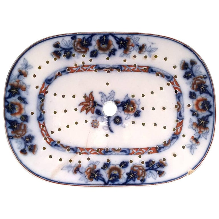 19th Century Ceramic Fish Strainer