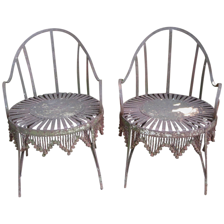 Hand-Forged Iron Chain Tassel Design Armchairs