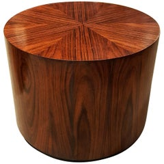 Dramatic Rosewood Drum Side Table by Harvey Probber, 1960s, Fully Restored