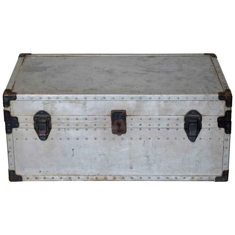 Stunning Robust Polished Aluminum and Steel Trunk