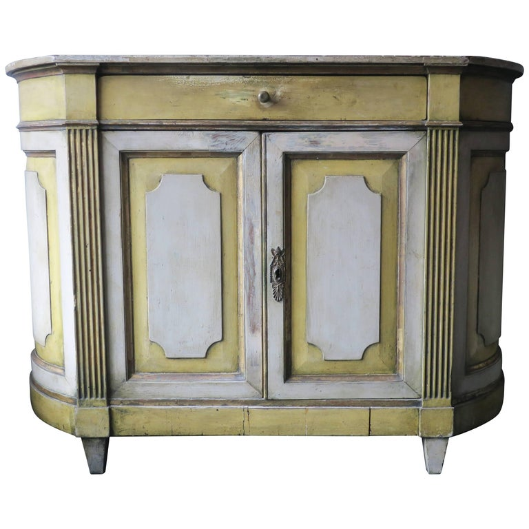 Antique Painted Credenza, 18th Century For Sale