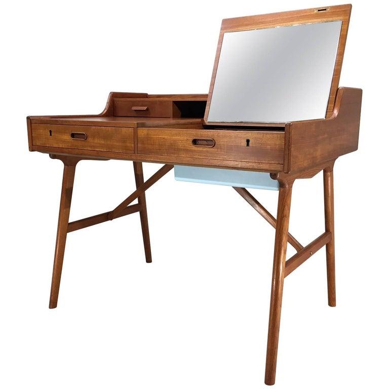 Arne Wahl Iversen for Vinde Mobler Model 65 Secretary Desk with Vanity Mirror