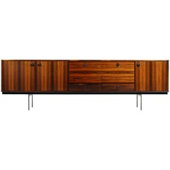 Large 1960s Rosewood Sideboard by William Watting for Fristho with Iron Base