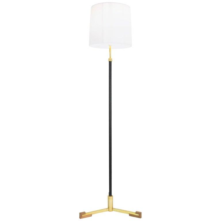 Equilibrium-II MI Adjustable Leather Floor Lamp, Flow Collection