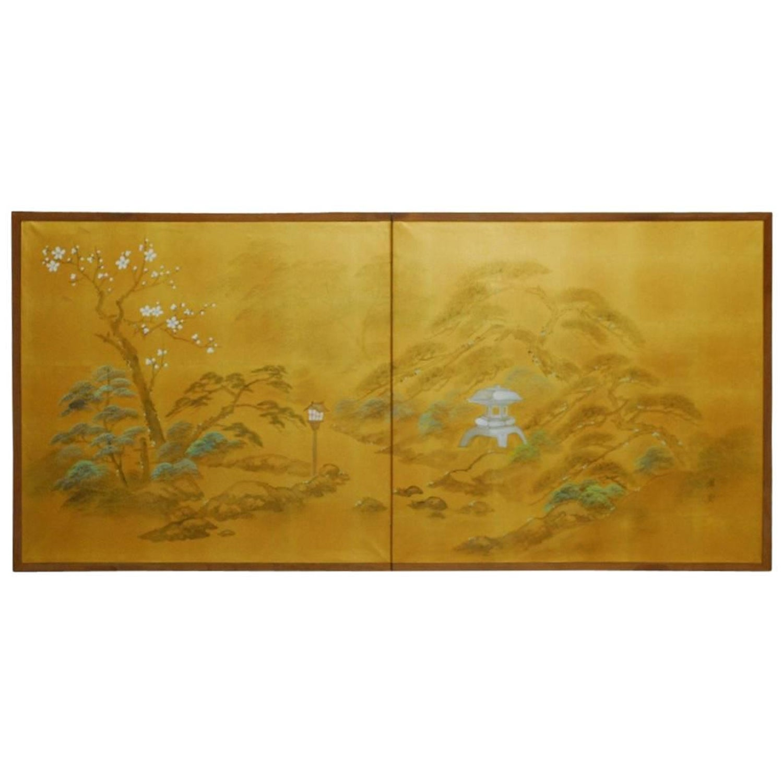 Japanese Silk Paintings - 135 For Sale on 1stdibs