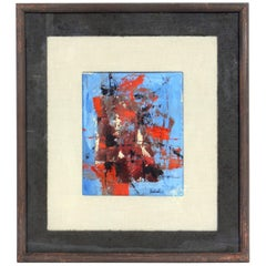 Midcentury Abstract Painting by Arnold Taraborrelli