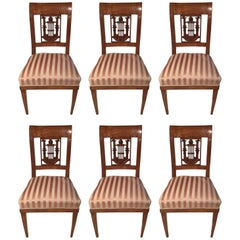 Set of Six Classicist Chairs, Germany, circa 1810