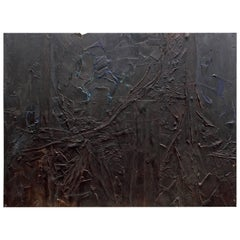 """Harry Bouras Chicago Abstract Expressionist Painting """"Lg. Nightfigure"""" 1960"""