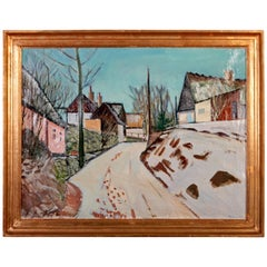 Harald Heiring Danish Village Painting