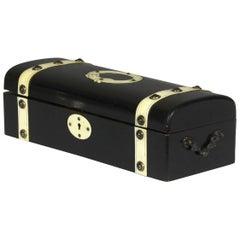 Late 19th Century Ebony and Bone Box