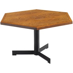 Hexagonal Pedestal Table, circa 1960