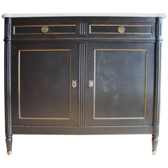 Louis XVI Ebonized French Two-Door Buffet