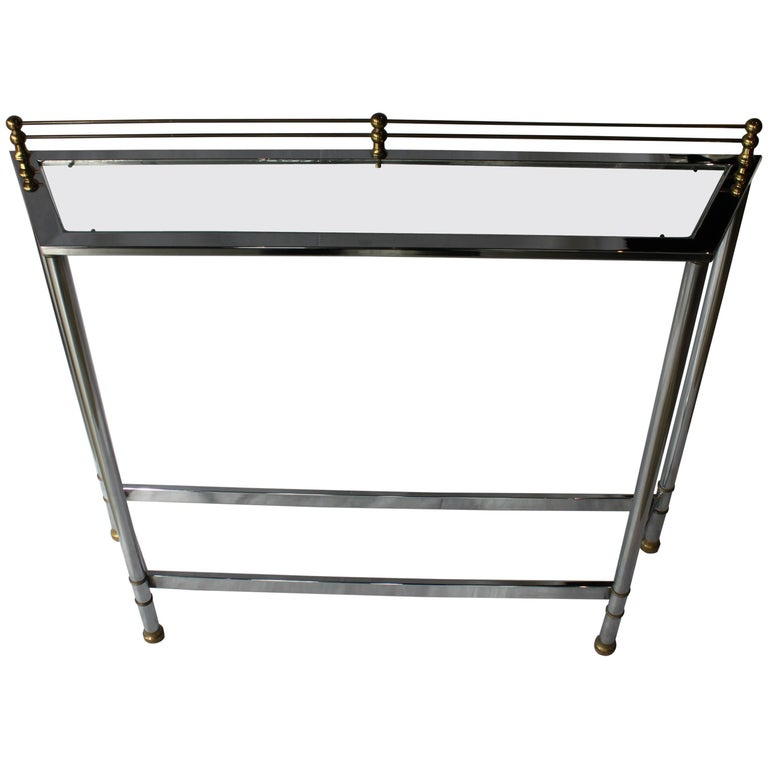 Chrome and Brass Modern Console