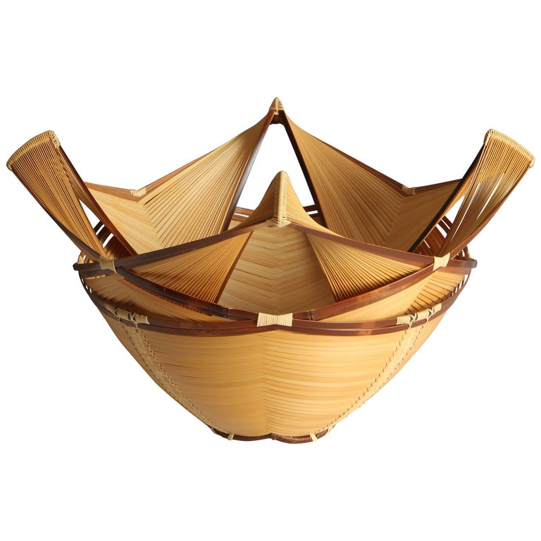 Bamboo Flower Basket 1