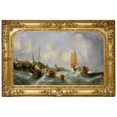 Large Maritime Seascape by William Callcott Knell