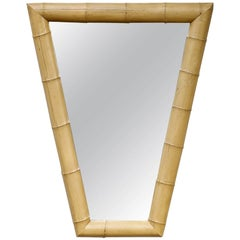 Vintage Bamboo Form Mirror In The Hollywood Regency Taste