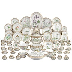 143 Piece Flora Danica Porcelain Dinner Service by Royal Copenhag
