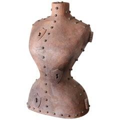 Tuscan Terracotta & Iron Corset Sculpture by Italian Artist Giovanni Ginestroni