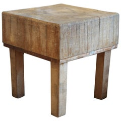 1930s French Butcher Block