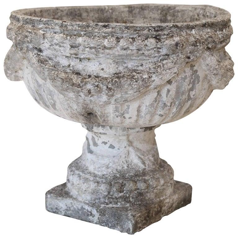 Oversized French Stone Garden Urn