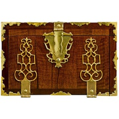 English Brass Bound Lock Box