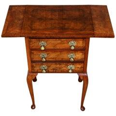 Walnut Drop-Leaf Side Table