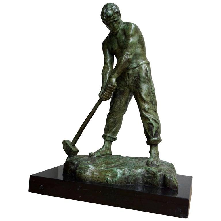 Bronze Sculpture by Victor Demanet