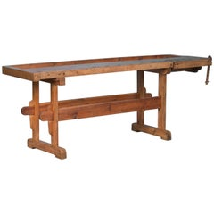 Antique Carpenter's Workbench/Console Table