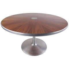 Midcentury Pedestal Dining Table by Poul Cadovius for France and Son