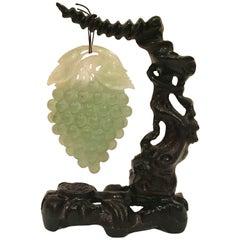 Serpentine Grape Sculpture on Stand