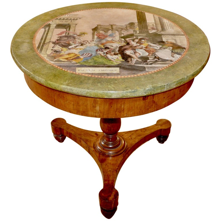 Rare and Period Italian Neoclassical Scagliola Centre Table or Gueridon