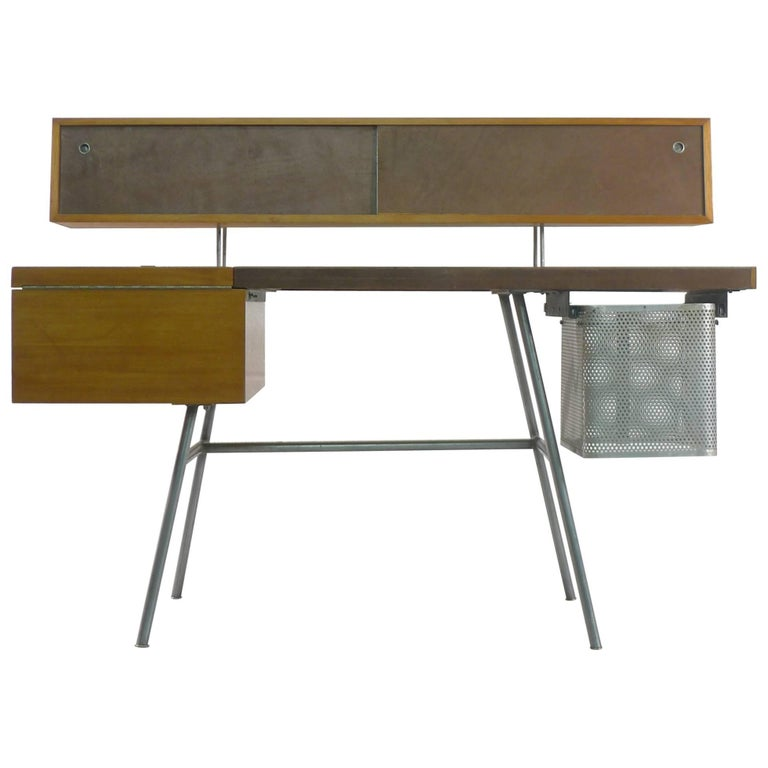 George Nelson Home Office Desk, Vintage Herman Miller, 1950s For Sale