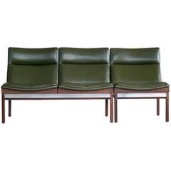Arthur Umanoff Walnut Modular Sofa Set with Table for Madison Furniture, 1950s