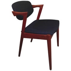 1960s Kai Kristiansen Model 42 Dining Chairs in Teak