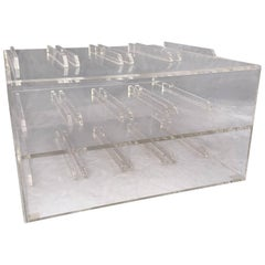 Mid-Century Lucite 8 Bottle Wine Rack