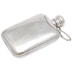 Edwardian Sterling Silver Flask