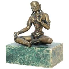 Bronze Figure of the Seated Goddess Tara, India, 19th Century