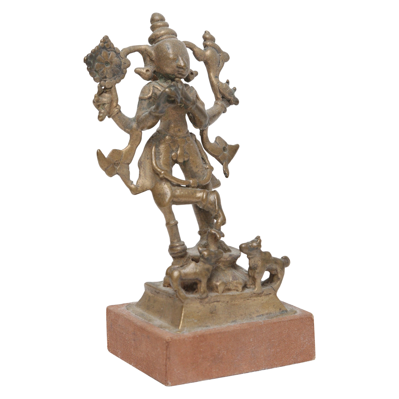 Eastern Indian Brass Figure of Venugopala, 17th-18th Century
