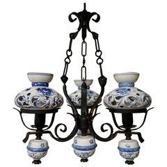 Original Delft's Blue Chandelier