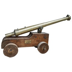 French Cast Bronze Small Marine Cannon, 17th Century