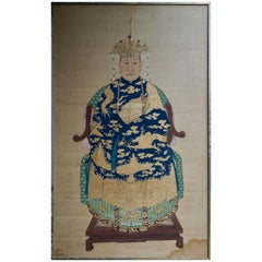 Fine Chinese Painting on Silk, Lady of Class, 18th-19th Century