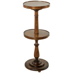 Late 19th Century French Walnut Lace Maker's Table, Pedestal, or Sculpture Stand