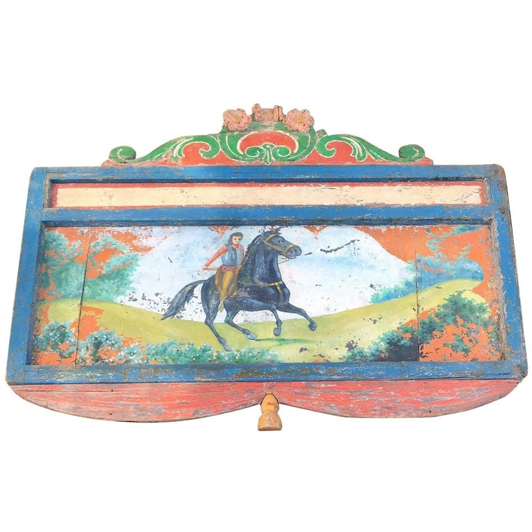 19th Century Hand-Painted Circus Rounding Board 1